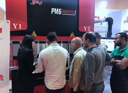 Wonderful moments of Jiangsu Jinfangyuan booth at MACTECH Exhibition in Egypt